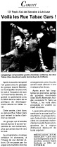 La voix du Nord - 19 septembre 2003 - 1er partie Rue Tabac Gars